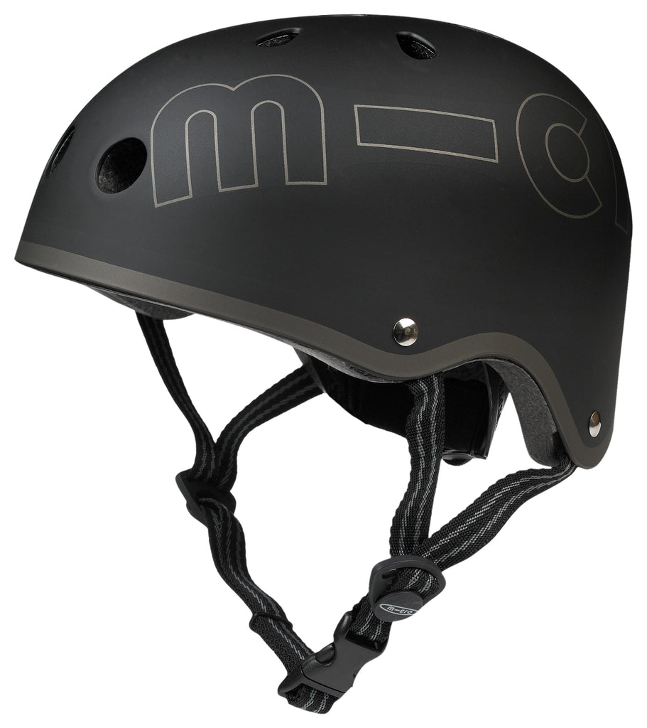 Black Micro Helmet by Micro Scooters to protect whilst on scooting adventures. Free shipping. Discount for newsletter subscribers.