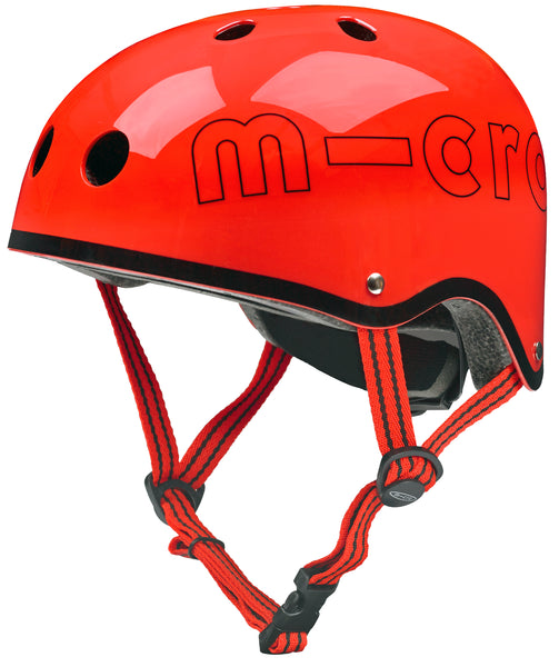 Red Gloss Micro Helmet by Micro Scooters to protect whilst on scooting adventures. Free shipping. Discount for newsletter subscribers.