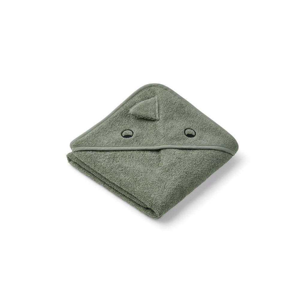 LIEWOOD - Albert/Augusta Hooded Towels - Dino faune green