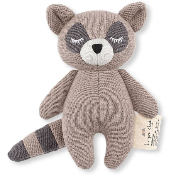KONGES SLØJD - Soft Toy/Rattle - Mini Racoon
