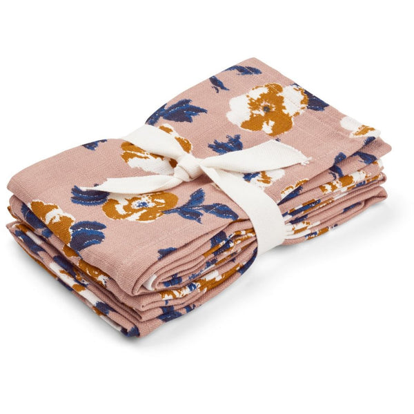 LIEWOOD - Hannah Muslins (Two Pack) - Flower Bomb Rose