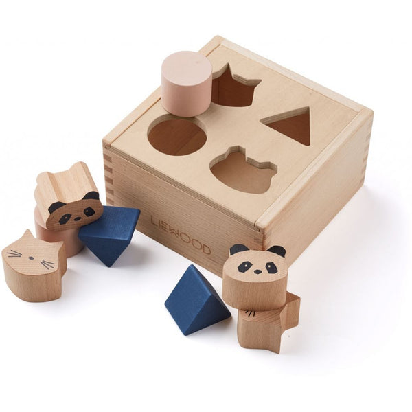 LIEWOOD - Mateo Wooden Box Puzzle/Shape Sorter