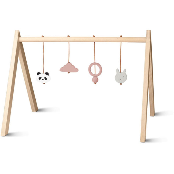 LIEWOOD - Wooden Baby Play Gym - Pink