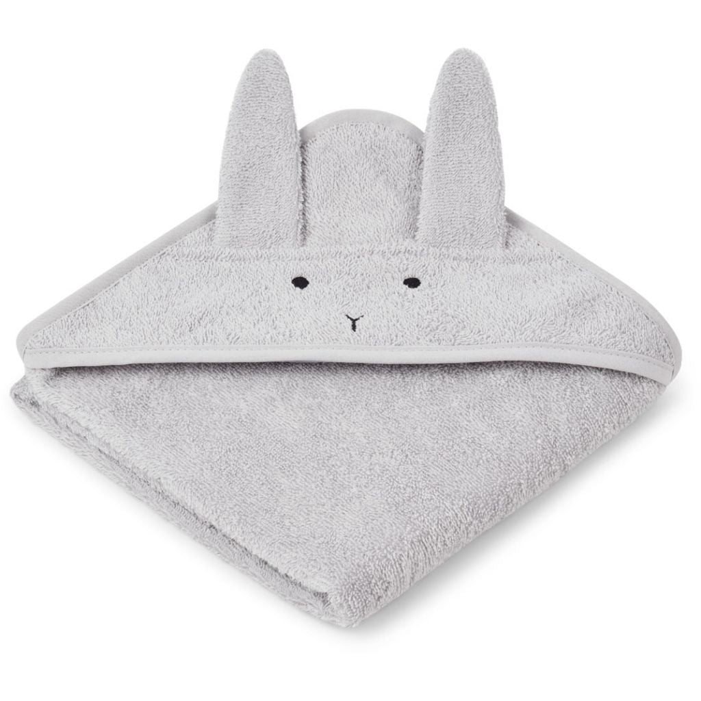 LIEWOOD - Albert Hooded Baby Towel - Rabbit Dumbo Grey