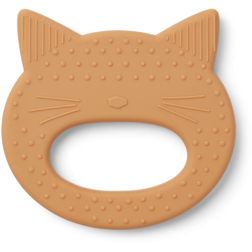 LIEWOOD - Gemma Teether - Cat Mustard