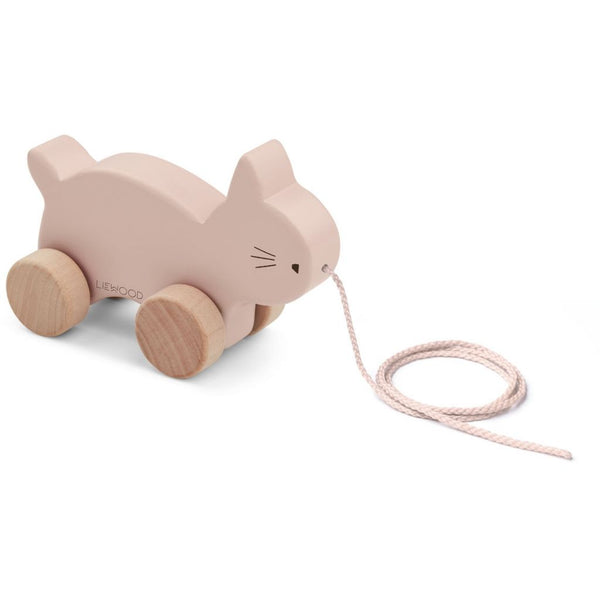 LIEWOOD - Abby Pull Along Wooden Toy - Cat Rose