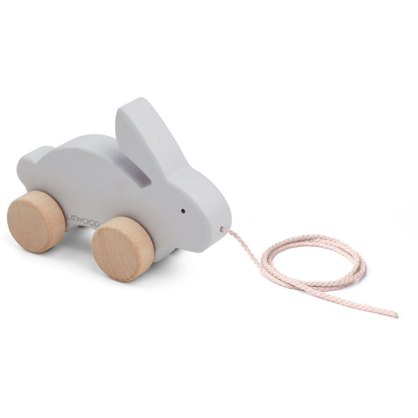LIEWOOD - Abby Pull Along Wooden Toy - Rabbit Dumbo Grey