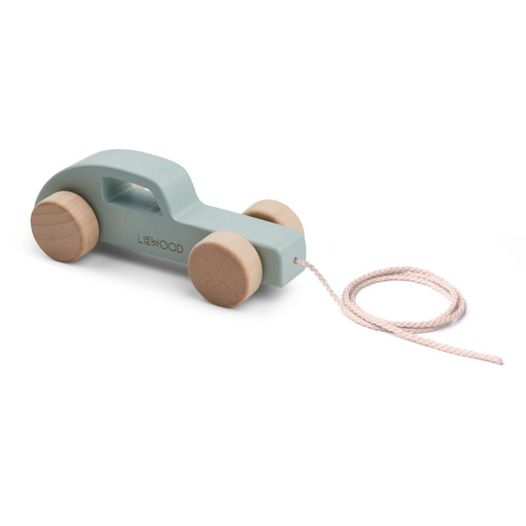 LIEWOOD - Abby Pull Along Wooden Toy - Car Dusty Mint