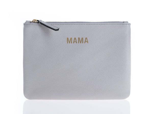 JEM + BEA Mama Clutch Grey White