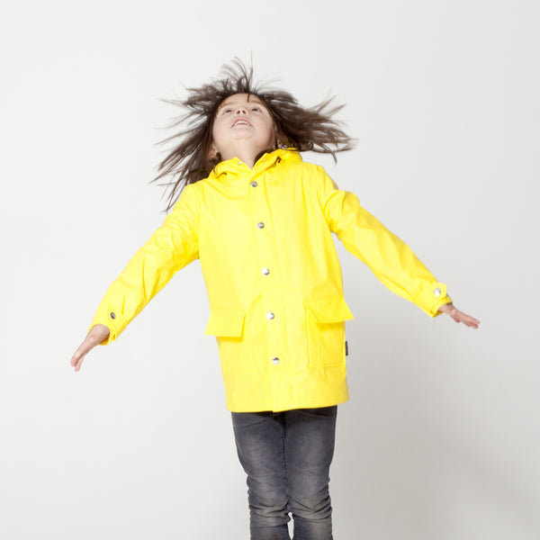 GOSOAKY - WILD GEESE Lined Waterproof Jacket - Yellow