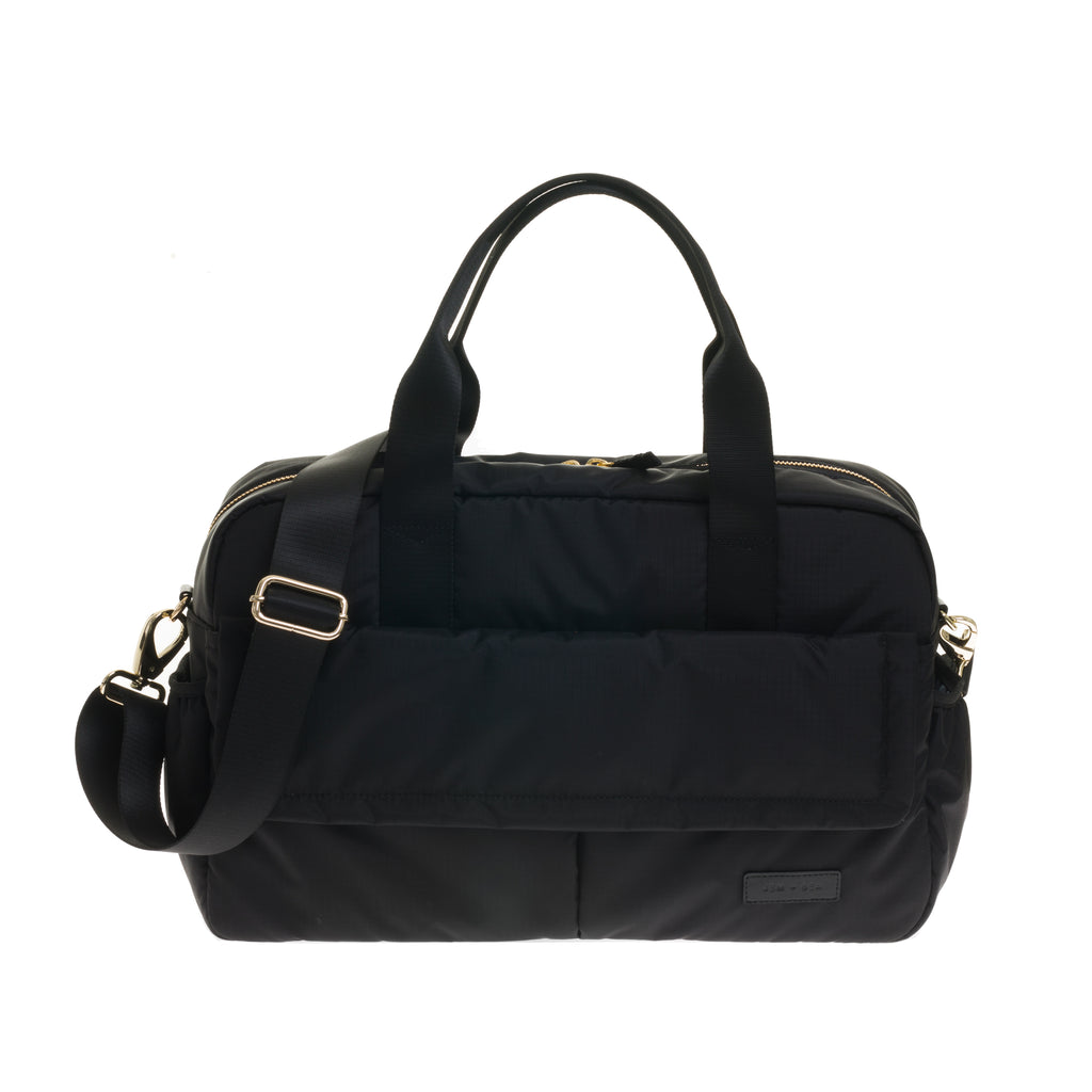 JEM + BEA Marlow unisex changing bag black. Modern stylish changing bags and accessories. UK stockist. Free shipping. Discount when subscribe for newsletter.
