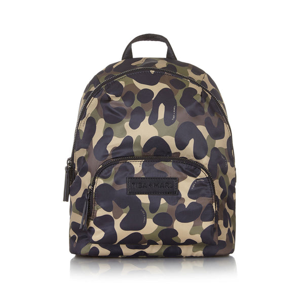 Tiba + Marl - stylish, unisex changing and weekend bags for modern parents - Mini Elwood kids backpack Camo