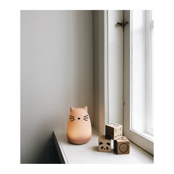 LIEWOOD - Winston Night Light - Cat Rose