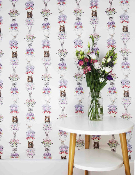 WILD HEARTS WONDER - Wallpaper - Nordic Flower Scandi