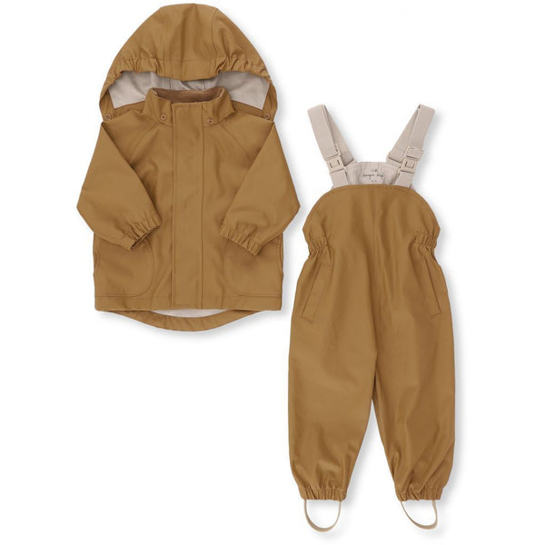KONGES SLØJD - Palme Rainwear Set - Cognac Gold