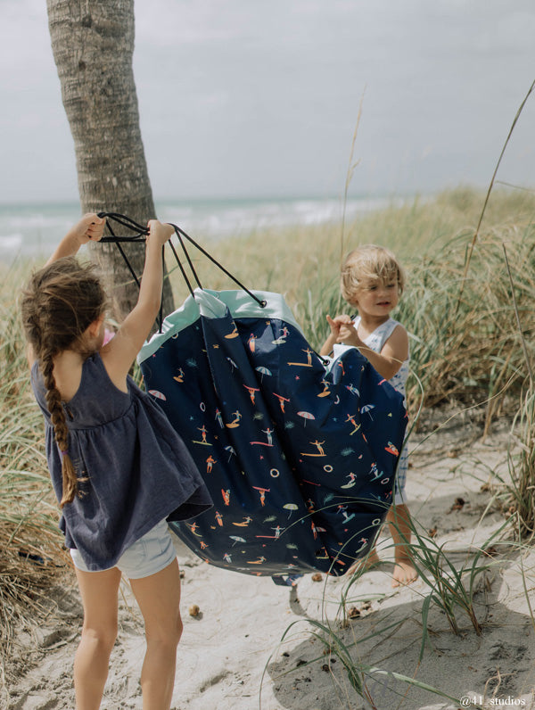 PLAY & GO - Outdoor Storage Bag/Play Mat - Surf