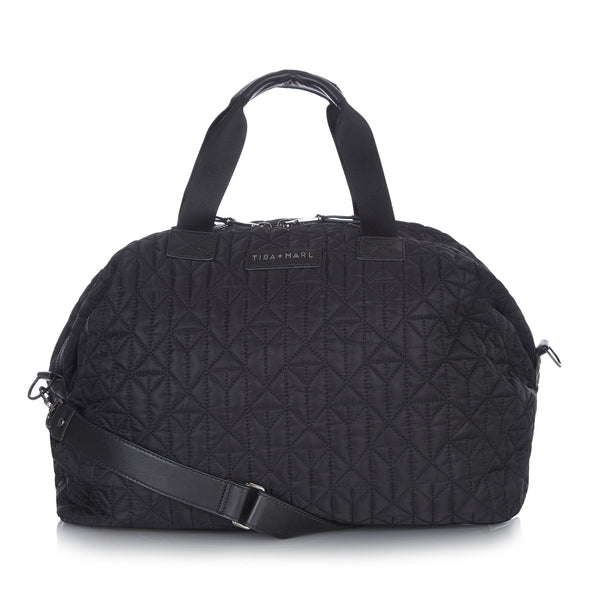 Tiba + Marl - stylish, unisex changing and weekend bags for modern parents - RAF Weekender Black and Gunmetal