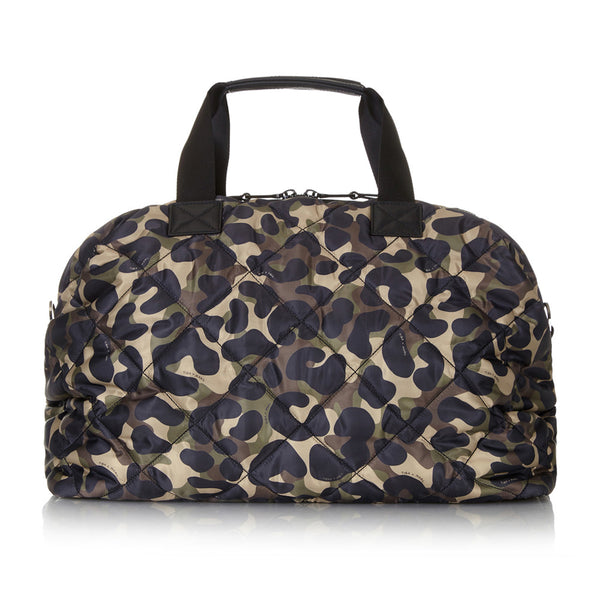 Tiba + Marl - stylish, unisex changing and weekend bags for modern parents - RAF Weekender Camo