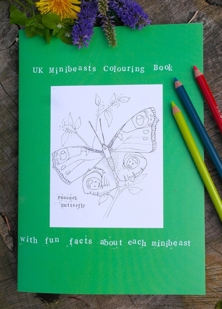 SARAH LOVELL ART UK Minibeast Hand Illustrated Colouring Book