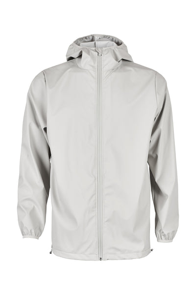 Stylish modern Scandinavian rainwear by Danish brand RAINS. Rains Base in Moon.  Raincoat rain jacket.