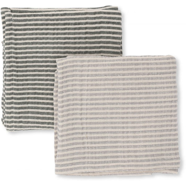 KONGES SLØJD - Muslin Cloths (pack of two) - Grey