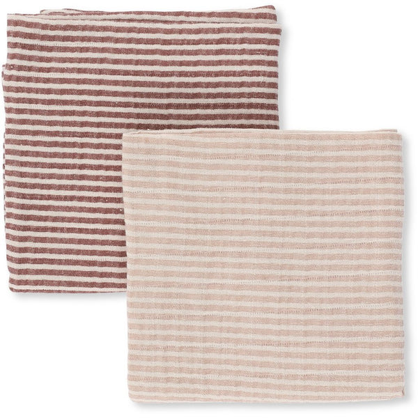 KONGES SLØJD - Muslin Cloths (pack of two) - Rose and Plum