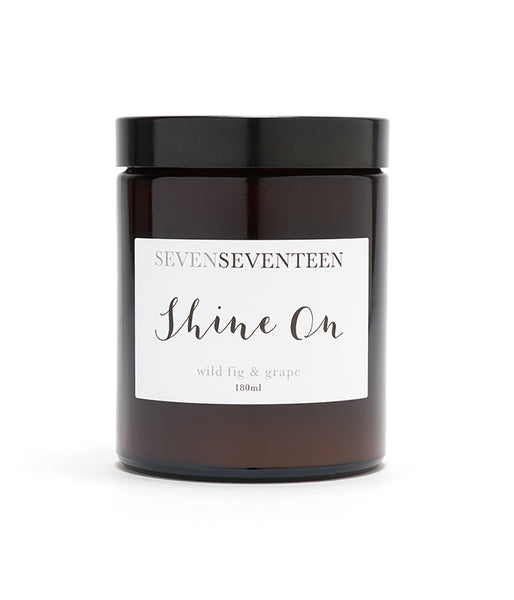 "SEVEN SEVENTEEN - ""Shine On"" Candle - Wild Fig and Grape"