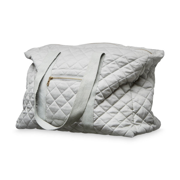Beautiful grey organic cotton quilted weekend bag by Cam Cam Copenhagen