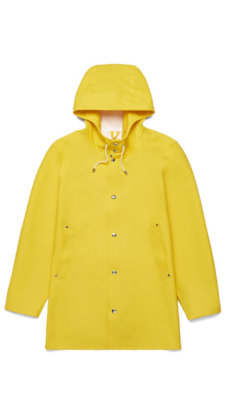 STUTTERHEIM Stockholm Raincoat in Yellow Scandinavian Stylish Modern Rainwear