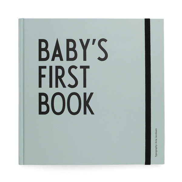 DESIGN LETTERS Baby's First Book in Mint Green