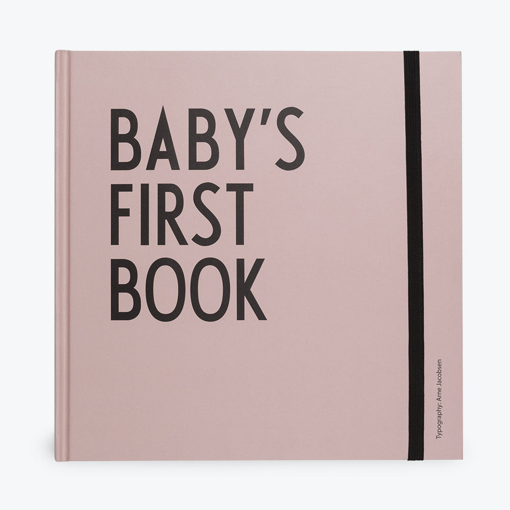 DESIGN LETTERS Baby's First Book in Pale Pink and Mint Green