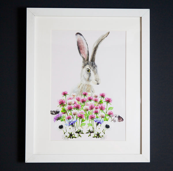 Scandi Bunny art print A4 size by independent British brand Wild Hearts Wonder