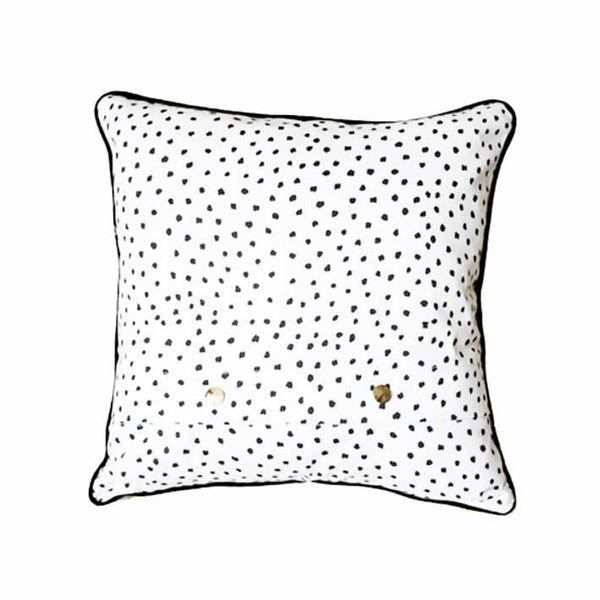 Be the Bear animal print cushion by independent British brand Wild Hearts Wonder featuring a fearsome bear on the front and animal print on the reverse