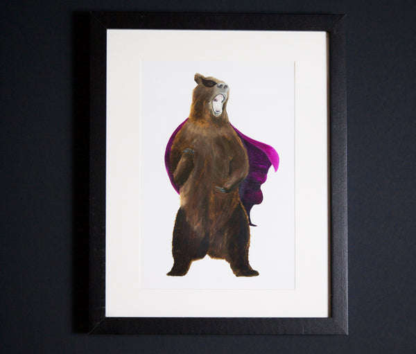 Be the Bear art print A4 size by independent British brand Wild Hearts Wonder