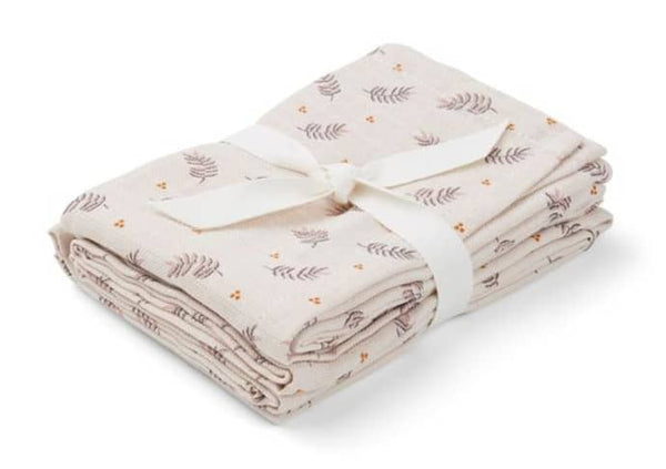 LIEWOOD - Hannah Muslins (Two Pack) - Fern Rose