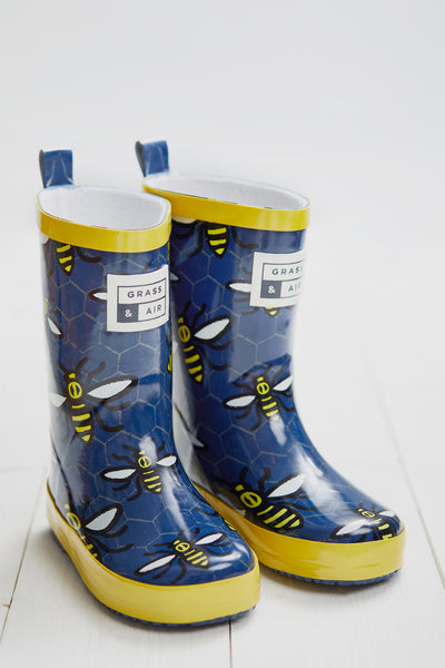 GRASS & AIR - Little Kids Worker Bee Wellies