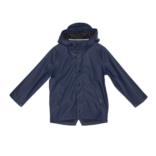 GOSOAKY ELEPHANT MAN Unisex Waterproof Jacket Mood Indigo Navy Blue Kids Stylish Modern Rainwear