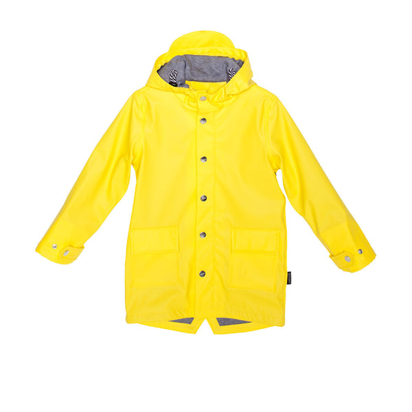 GOSOAKY WILD GEESE Unisex Lined Waterproof Jacket Vibrant Yellow