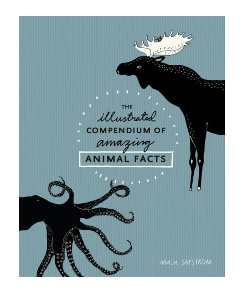 BOOK - ILLUSTRATED COMPENDIUM OF AMAZING ANIMAL FACTS by Maja Safstrom