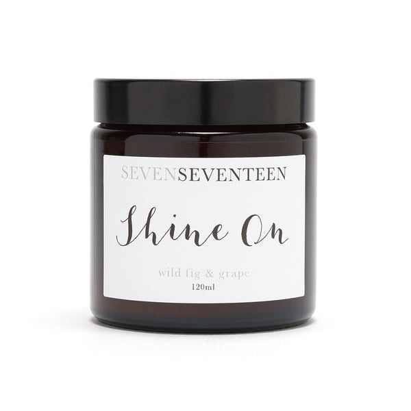 "SEVEN SEVENTEEN Wild Fig and Grape ""Shine On"" Candle"