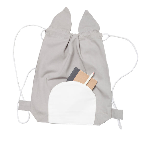 FABELAB - Drawstring Backpack - Cuddly Cat