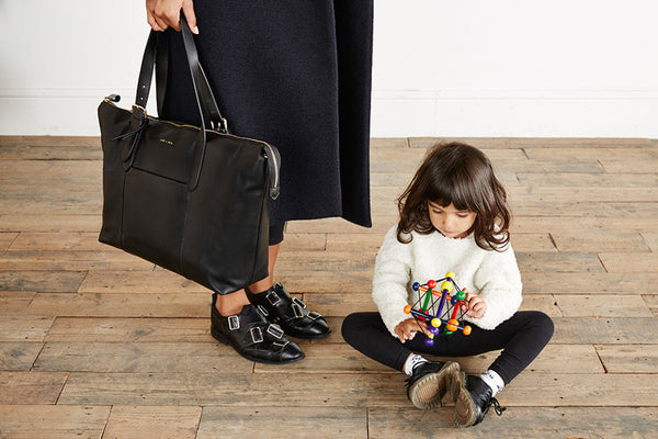 JEM + BEA Beatrice black. Modern stylish changing bags and accessories. UK stockist. Free shipping. Discount when subscribe for newsletter.