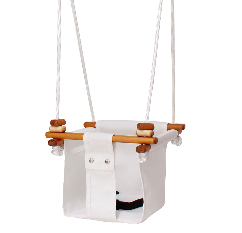Solvej baby toddler indoor/outdoor swings - Merino White - hand crafted modern toys