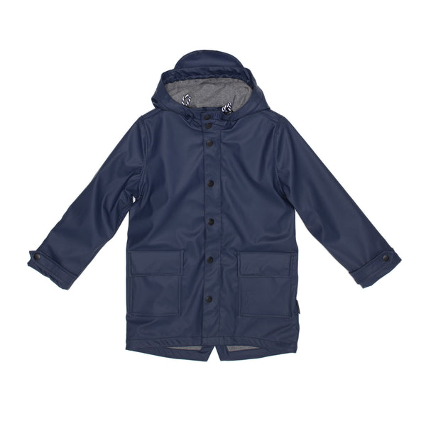 GOSOAKY WILD GEESE Unisex Lined Waterproof Jacket Mood Indigo