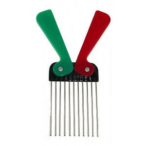 Denman Metal Tooth Folding Afro Comb - total hair and beauty