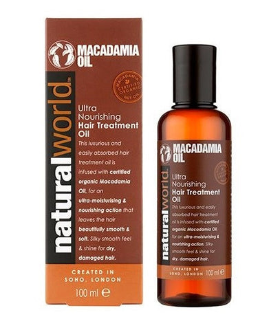 Natural World Macadamia Ultra Nourishing Hair Treatment Oil - total hair and beauty