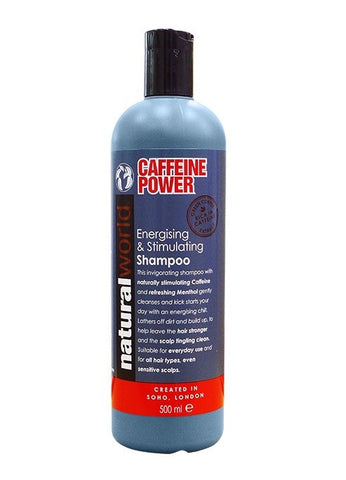 Natural World Caffeine Power Energising & Stimulating Shampoo 500ml - total hair and beauty