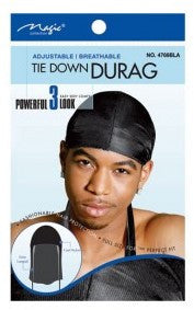 Magic Tie Down Durag Black 4769BLK - total hair and beauty