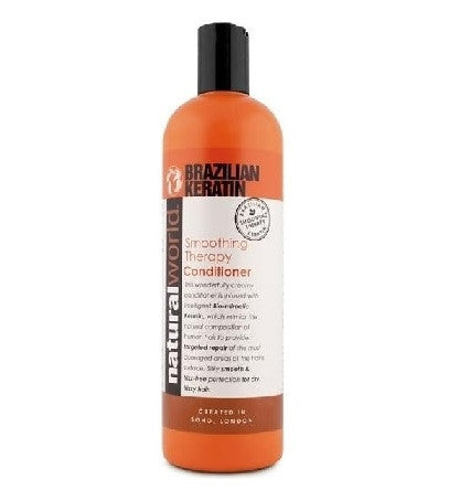 Natural World Brazilian Keratin Smoothing Therapy Conditioner 500ml - total hair and beauty