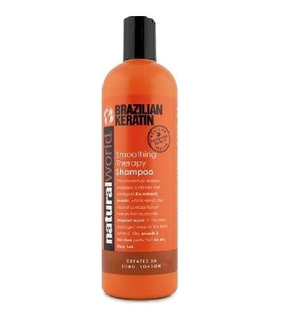 Natural World Brazilian Keratin Smoothing Therapy Shampoo 500ml - total hair and beauty